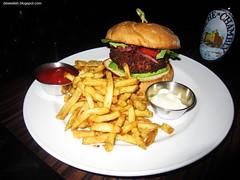 Crab Cake Burger at Habit (deeeelish) Tags: fries crabburger