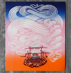 "The Four Elements: Fire / ""FIREPIT"" (Tugboat Printshop) Tags: print printmaking blockprint th woodcut woodblock reliefprint thefourelements woodcutprint theelements originalprints paulroden tugboatprintshop contemporaryprintmaking traditionalprintmaking valerielueth woodcutprintmaking pittsburghartists woodblockprintmaking pittsburghprintmaking affordableartprints colorblockprint colorwoodcutprints colorwoodcutprintsforsale originalwoodcuts originalreliefprint airearthwaterfire"