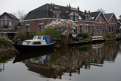 DSC_1701_640-a (Julysha) Tags: spring march thenetherlands d800e dxo abcoude gein river village magnolia boat reflection nikkor247028 nederland