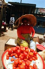 Kumasi Ashanti Ghana West Africa African Market Vendor April 1999 035 Tomatoe Vendor (photographer695) Tags: kumasi ashanti ghana west africa african market vendor april 1999