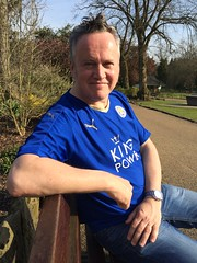 Relaxing in the sun at Matlock Derbyshire. (boloveselvis) Tags: park city shirt club hall football derbyshire leicester replica celebrations badge jersey celebrate champions leys matlock soldout 2016 topoftheleague 2015 leicestercity lcfc replicashirt kingpower