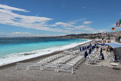 Nice beach (ec1jack) Tags: trip holiday france beach french coast march spring nice europe mediterranean cotedazur riviera may april deckchairs 2016 kierankelly ec1jack canoneos600d