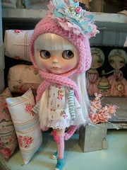 I do love pouty girls.... (simplychictiques) Tags: vintage adorable pastels pout blythe antiques grumpy floss shabbychic customblythedoll jodiedollscustom ooakblythedoll airbrushfaceup blytheinhats elifinspinkhat dollywardrobedress frecklesandpout