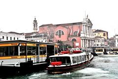 Italy, Venice - Ferrovia vaporetti station (Biffo1944) Tags: venice italy station ferrovia vaporetti