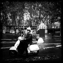 Paris Noir series (Nick Kenrick.(mostly off until February.. India )) Tags: hipstamatic johnslens blackeyssupergrainfilm paris france mono candid streettogs streetphotography noir street hipstography
