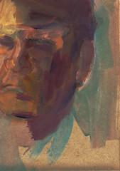 PUZZLE DE RETRATO (GARGABLE) Tags: portrait sketch retrato puzzle papel acrilico cartulinas pigmentos uskspain gargable angelbeltrn