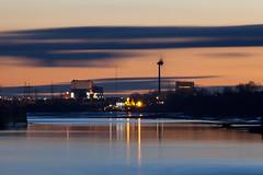 Pub power (RF100) Tags: uk sunset england water lune river unitedkingdom britain dusk nuclear lancashire lancaster sillouette powerstation windturbine 2016 nuclearpowerstation heysham riverlune heysham2 heysham1