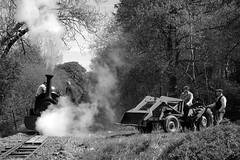 BLR 47635bw (kgvuk) Tags: tractor trains locomotive railways steamtrain ih steamlocomotive winifred internationalharvester narrowgaugerailways blr balalakerailway rheilfforddllyntegid 040st quarryhunslet