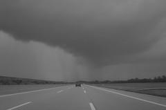 approaching storm (2) (BZK2011) Tags: blackandwhite storm canon highway motorway powershot a5 bab sturm regenwolken bhl schwarzweis s120