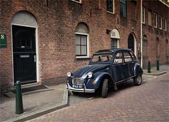 Citroen 2CV 6 (zilverbat.) Tags: 1948 car vintage town duck nederland stedelijk 2cv oldtimer eend nostalgie weesp flaminiobertoni citroen2cv6 zilverbat