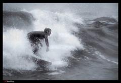 -1400_Fog surfer (trinrn7) Tags: water rain fog surf action surfing fujifilm padreisland xt1 topazimpression