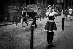 street selfie (MarioMancuso) Tags: life road street city people urban bw italy woman white black monochrome photography mono italian italia noir shot streetphotography documentary mario scene bn naples fujifilm streetphoto reportage monocrome photogrphy mancuso