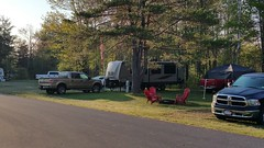 Mark and Kim's site (JD and Beastlet) Tags: park new york travel family camping friends camp vacation ny foot state group slide together gathering vehicle trailer rv 27 camper 2012 coles recreational rockwood mfcc crrek 2701ss