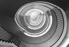 Into the light (sarah_presh) Tags: light blackandwhite monochrome architecture germany munich spiral mono shadows staircase government regierung regierungvonoberbayern nikond750