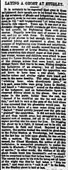 Studley Ghost - Trowbridge 1867 (Trowbridge Postcards & Ephemera) Tags: newspaper ghost wiltshire studley trowbridge samuelmarchant