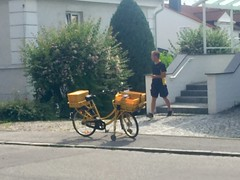 German bike-based mail delivery (fiftybybike) Tags: workbike