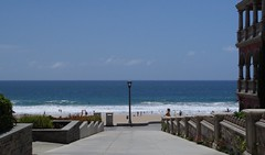 Manhattan Beach Entry (kristenlanum) Tags: ocean california blue summer sky beach water losangeles sand pacific manhattanbeach