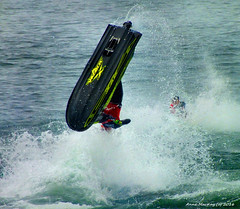 Scotland Greenock Scottish Grand Prix of the Sea a Jet Skier going head first into the sea 19 June 2016 by Anne MacKay (Anne MacKay images of interest & wonder) Tags: sea water june by river anne scotland clyde greenock jet picture scottish grand prix mackay 19 skier 2016 hs30