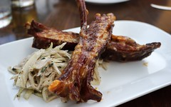 Lamb Ribs at Beast (deeeelish) Tags: lamb coleslaw