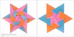 Modular Origami Star (Maria Sinayskaya) Tags: square origami folded 10010 modularorigami origamistar mariasinayskaya  kamipaperduocolorcolor 15cmdoublesided daiyoshiko 2dorigamistar