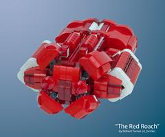"""The Red Roach"" - Urgavoon - Front (rt_bricks) Tags: lego spaceship moc afol microscale microspaceship"