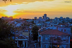 Hot and cold (teodoraGran) Tags: sunset hdr primelens nikon d90 hot cold vibrant town city sun cool colour bright colourful landscape houses beautiful plovdiv bulgaria old