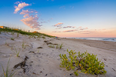 Emerald Isle, NC (Tyler Bliss) Tags: ocean sunset sea sky color beach clouds nc saturated sand nikon dusk horizon north wide tyler explore carolina outer bliss isle emerald banks snad tylerbliss