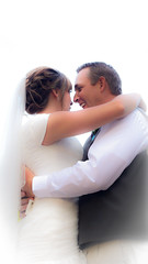 First Wedding Shoot (Matt Barlow Photography) Tags: wedding white love happy dance hugging hug couple happiness highkey embrace