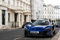Blue (Callum Bough) Tags: auto road street blue sun white london cars sports car nikon automobile driving shadows outdoor tan automotive mclaren d750 vehicle autos carbon supercar v8 supercars 650s