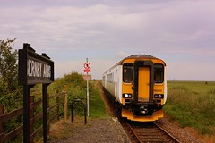 Flag down a Sprinter at Berney Arms (Chris Baines) Tags: arms great class norwich service yarmouth aga 156 berney sprinter 1512