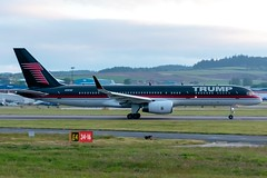 Donald Trump - Boeing 757-2J4 - N757AF  Aberdeen Airport (paulstevenchalmers) Tags: abz aberdeen airport aberdeenairport7 trump b757 boeing