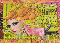 Happy (sandravandergeest) Tags: art collage journal
