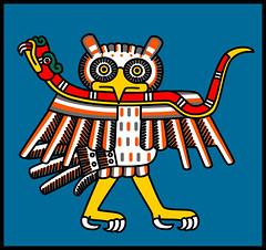 Techotl (maybe) - Codex Laud 05 (Gwendal_) Tags: art strange mexico weird punk raw aztec drawing outsider mexican brest mexique gwen lowbrow breton artiste laud brut codex étrange illustrateur azteca gwendal centrifugue azteque graphiste aztèque gwenboul figurationlibre uguen techotl gwendalorg centrifuguefr