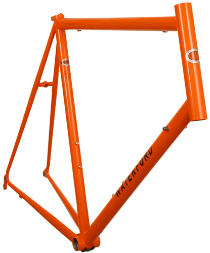 <p>Front view of Vision 14-Series Road bike in Monarch Orange with Black Decals - 63178.</p>