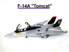 Lego F-14A (Jon Treasure) Tags: plane airplane lego f14 aircraft super sonic carrier f14a
