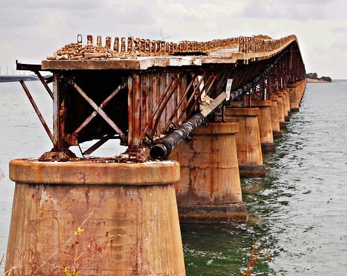 Old Overseas Highway/ Railroad Bridge, Spanish Harbor Key