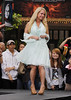 Kim Richards at The Grove to launch Kathy Hilton's new fashion line 'The Kathy Hilton collection' on 'Extra' Los Angeles, California