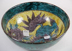 22. Signed Chinese Foo Dog Bowl