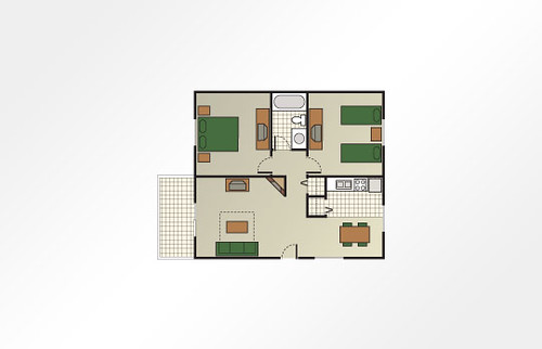 Christmas Mountain Village™ 2-Bedroom Cottage - 650 sq ft