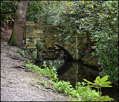 The Little Bridge (Eleanor (WHU)) Tags: bridge duck grimsdyke photogarden thethreeangels shieldofexcellence keepyoureyesopen goldstaraward royalawards qualifiedmembersonly photographersworld bestpeopleschoice anythingnikonexceptpeople