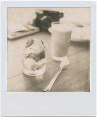 Saturday Sunny Healthy Breakfast (Thomas Boesgaard) Tags: breakfast copenhagen denmark europa europe skandinavien zealand tip scandinavia danmark slr680 københavn morgenmad sjælland koebenhavn polaroidslr680 polaroidcorporation theimpossibleproject px600silvershade