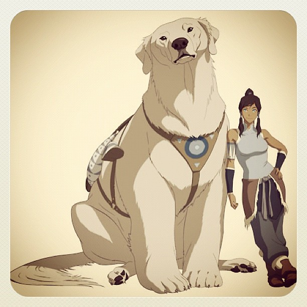 Cutest think ever, Polarbeardog from The LEGEND OF KORRA. #cute