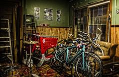 bike room (Michael William Thomas) Tags: ny newyork art portraits photography photo buffalo journal vio mikethomas viovio mtphoto cmndrfoggy michaelwthomas