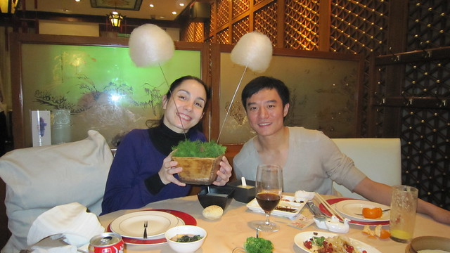"Tamara Rojo and Fei Bo have dinner in a restaurant in Beijing.  <a href=""http://www.roh.org.uk/news/tamara-rojo-fuses-east-and-west-in-new-tv-series"" rel=""nofollow"">www.roh.org.uk/news/tamara-rojo-fuses-east-and-west-in-ne...</a> Photo by CNN International / Fusion Journeys"
