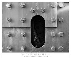 Steel Plates and Bolts (G Dan Mitchell) Tags: sanfrancisco sf california usa north america city urban downtown bridge steel plate bolt nut cutout hole shape structure texture pattern stock license print