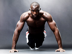 Bodybuilding - Healthy young guy doing push up exercise (BahrainPersonalTraining) Tags: life portrait people man black male guy up modern training denmark person one cool healthy hand power looking floor adult exercise body masculine muscle muscular african background grunge young handsome lifestyle bodybuilding health human american attractive strong push strength practice care workout fitness gym macho powerful fit active wellness pushup energetic