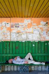 station (ramin mazur) Tags: street orange men green rest streetphoto resting chisinau moldova