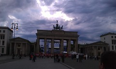 Brandenburg Gate with dramatic sky, Berlin - June 2012 (Pub Car Park Ninja) Tags: berlin germany tv tower checkpoint charlie segway james briggs reichstag holocaust memorial hitlers bunker east side gallery german currywurst tucher friedrichstrasse westin grand berlin concert house june 2012 june 2012 berlin wall bier beer bierbike bier bike brandenburg gate altes museum alexanderplatz memorial murdered jews europe denkmal fr die ermordeten juden europas holocaustmahnmal humboldt university library university humboldtuniversitt zu fernsehturm rache des papstes popes revenge berliner bear dom cathedral reichstag dome brandenburggate