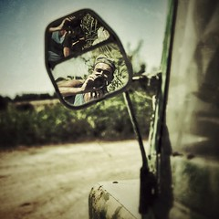 Autoportrait au rtroviseur ( j  r e n) Tags: color me self square mirror autoportrait moi rtroviseur couleur carr 500x500 jren