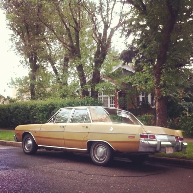 brown classic car 70s dodge dart